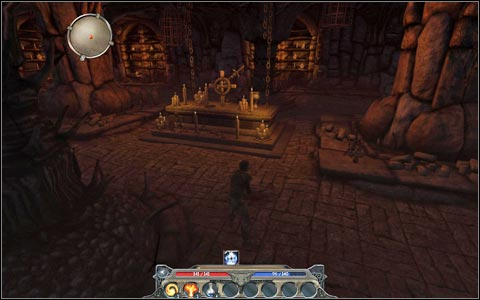 You will receive a key to the tomb at the back of the chapel M2 - Broken Valley - Main quests - Broken Valley - Divinity II: Ego Draconis - Game Guide and Walkthrough
