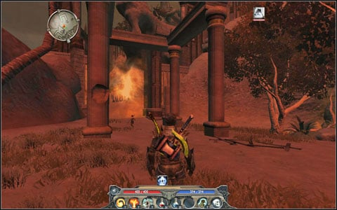 Follow Sassan to the barrier blocking the path to the tower - nearby the portal ant the enchanter totem M3(13) - Sentinel Island - Main quests - Sentinel Island - Divinity II: Ego Draconis - Game Guide and Walkthrough