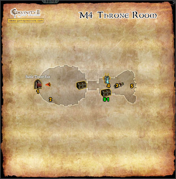 1 - M4 Map - Throne Room - Throne Room - Divinity II: Ego Draconis - Game Guide and Walkthrough