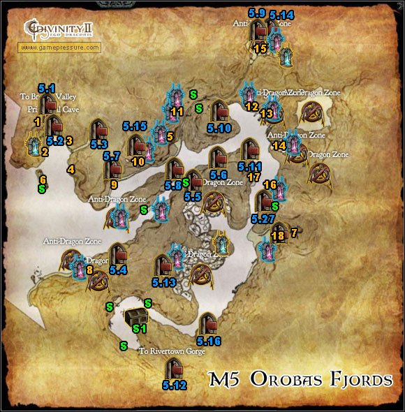 1 - M5 Map - Orobas Fjords - Orobas Fjords - Divinity II: Ego Draconis - Game Guide and Walkthrough