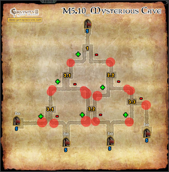 A thorough description in the Mysterious Cave quest M5(10) - World Atlas - Map - Orobas Fjords - M5.10 Mysterious Cave - World Atlas - Orobas Fjords - Divinity II: Ego Draconis - Game Guide and Walkthrough
