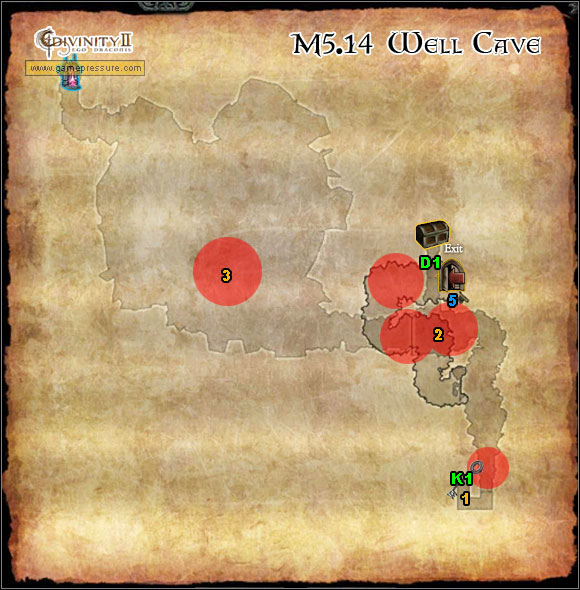1 - World Atlas - Map - Orobas Fjords - M5.14 Well Cave - World Atlas - Orobas Fjords - Divinity II: Ego Draconis - Game Guide and Walkthrough