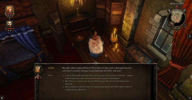 After using the teleporting pyramid, you will be moved to a bathroom, in which a woman takes a bath. - A Source Hunters Journey | Cyseal - Side quests - Cyseal - Side quests - Divinity: Original Sin Game Guide
