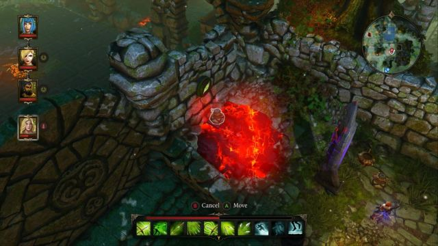 Teleport, or simply throw an item on the button to activate it. - Puzzle - opening the gate to the Source Temple | Dark Forest - Side quests - Dark Forest - Side quests - Divinity: Original Sin Game Guide