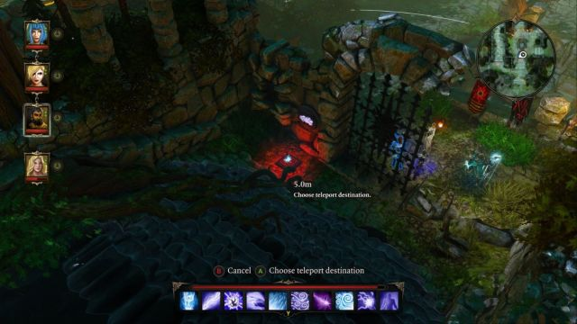 You can cheat the game a little, to get to the air button a lot quicker. - Puzzle - opening the gate to the Source Temple | Dark Forest - Side quests - Dark Forest - Side quests - Divinity: Original Sin Game Guide