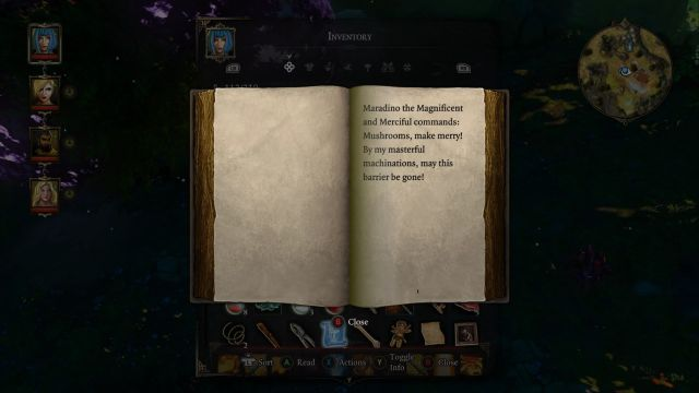You must read the spell for the barrier to disappear - Find the Witch | Luculla Forest / Hiberheim - Main quests - Luculla Forest / Hiberheim - Main quests - Divinity: Original Sin Game Guide