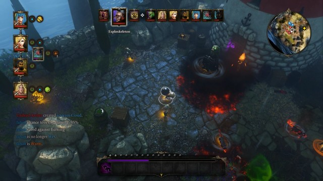 Watch out for the explosive enemy - a moment of inattention may cost you the lives of your characters. - The Ghoul That Guards the Lighthouse | Bosses - Bosses - Divinity: Original Sin Game Guide