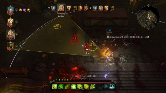 Be careful not to hit civilians - they are marked with a yellowish outline when you point at them. - Mangoths Servants | Bosses - Bosses - Divinity: Original Sin Game Guide