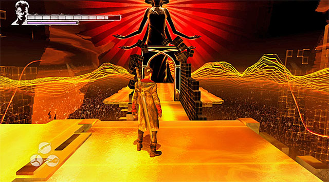 Independently on your choice, youll reach a place shown on the screen above - Getting to the place where the third round takes place - 13: Devils Dalliance - DMC: Devil May Cry - Game Guide and Walkthrough