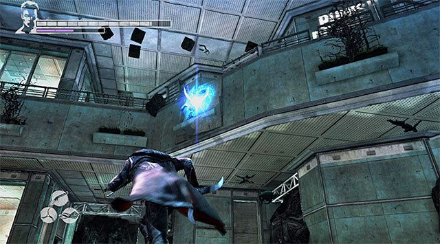 Search the vicinity, ignoring an elevator from which a white light is spreading - Exploring the 87th floor - 16: The Plan - DMC: Devil May Cry - Game Guide and Walkthrough