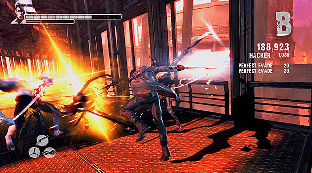 Move on, youll get where youll fight a Dreamrunner again with a group of weaker monsters - Getting to the elevator on the 106th floor - 16: The Plan - DMC: Devil May Cry - Game Guide and Walkthrough
