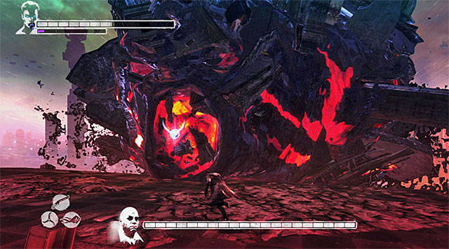 1 - Boss: Mundus – second part of an encounter - 19: Face of the Demon - DMC: Devil May Cry - Game Guide and Walkthrough