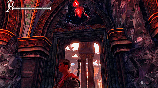 SOUL 5/9 – SOUL is over the door in the main hall of the mansion, which you destroy with an Arbiter - Mission 2: Home Truths - Lost Souls - DMC: Devil May Cry - Game Guide and Walkthrough