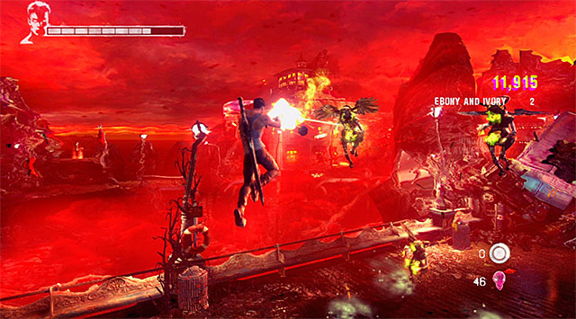 Game will let you test your newly regained guns, forcing you to battle with a new type of monsters (Bathos) - Going through the first part of the funfair - 1: Found - DMC: Devil May Cry - Game Guide and Walkthrough