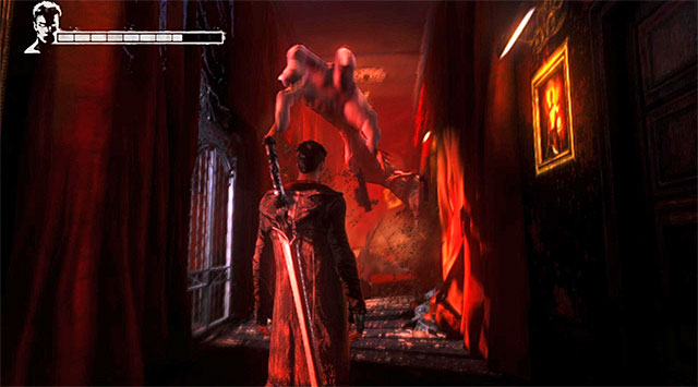 Move forward, watching out for boss, who will ram through the wall - Going through the second part of the funfair - 1: Found - DMC: Devil May Cry - Game Guide and Walkthrough