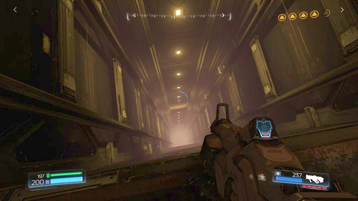 At the end of the level you will reach a place with a high elevator shaft - Argent Energy Tower | Secrets - Secrets - Doom Game Guide & Walkthrough