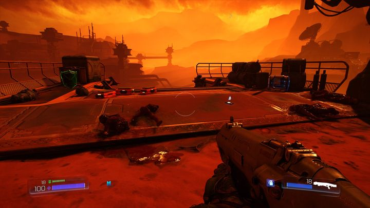 The path that is there will lead to a place with medical kit, armor and log - The UAC | Secrets - Secrets - Doom Game Guide & Walkthrough