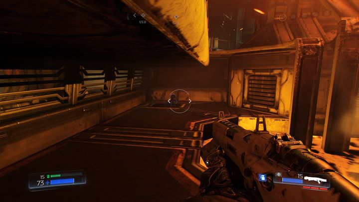 When you turn around you will see the first collectible in this level - Foundry | Secrets - Secrets - Doom Game Guide & Walkthrough