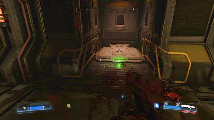 On the right from the corridor you should notice a closed hatch - Resource Operations | Secrets - Secrets - Doom Game Guide & Walkthrough