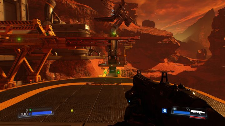 Near the end of the level you will pass through a metal construction into a large sluice behind which there are three larger opponents - Resource Operations | Secrets - Secrets - Doom Game Guide & Walkthrough
