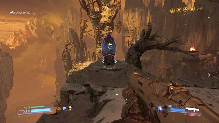 During the climb you will encounter one more Data Log in the form of a runic stone - Kadingir Sanctum | Secrets - Secrets - Doom Game Guide & Walkthrough
