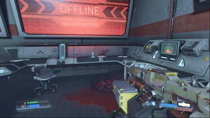 Slightly further there will be a room with Data Log lying in the corner - Destroyed Argent Facility | Walkthrough - Walkthrough - Doom Game Guide & Walkthrough