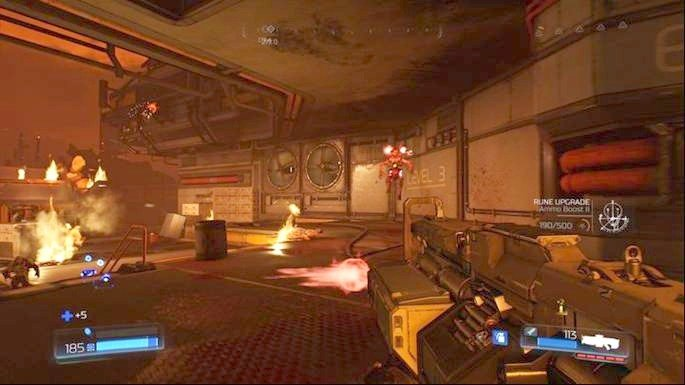 After listening to a short speech you must go forward - Destroyed Argent Facility | Walkthrough - Walkthrough - Doom Game Guide & Walkthrough