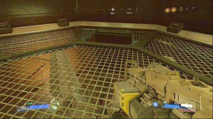 There you will find an activated fan which you must turn off - Advanced Research Complex | Walkthrough - Walkthrough - Doom Game Guide & Walkthrough