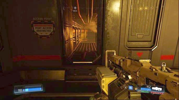 Use the panel in the middle once you get rid of all enemies - Advanced Research Complex | Walkthrough - Walkthrough - Doom Game Guide & Walkthrough