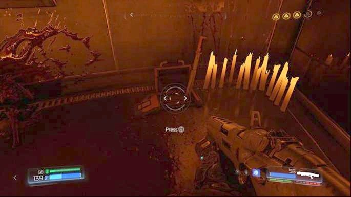 On the right from it there is a lever - Lazarus Labs | Walkthrough - Walkthrough - Doom Game Guide & Walkthrough
