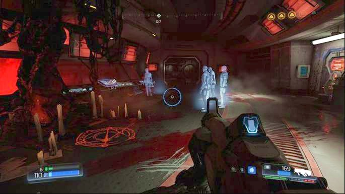 An elevator will appear - Lazarus Labs | Walkthrough - Walkthrough - Doom Game Guide & Walkthrough