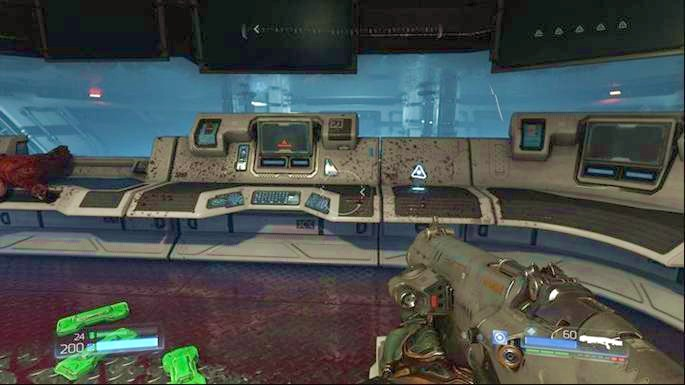 Go to the room ahead once the level starts and pick up the Data Log lying next to the computer - VEGA Central Processing | Walkthrough - Walkthrough - Doom Game Guide & Walkthrough