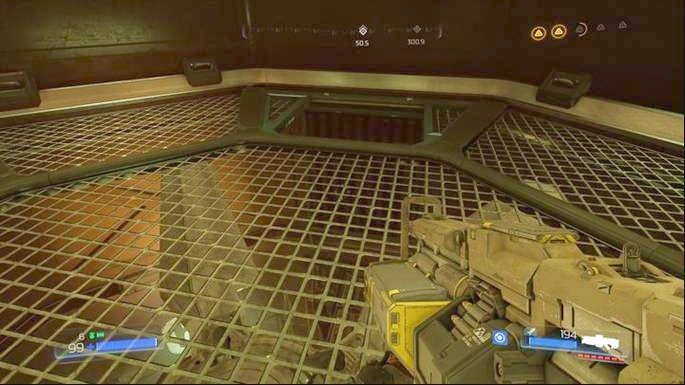 There you will find already activated fan which you must turn off - Advanced Research Complex | Secrets - Secrets - Doom Game Guide & Walkthrough