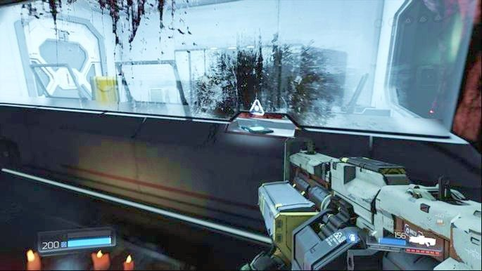 Go to the nearby room at the beginning of the level, watch the hologram that will appear there and then pick up the Data Log lying in the left corner - Lazarus Labs | Secrets - Secrets - Doom Game Guide & Walkthrough