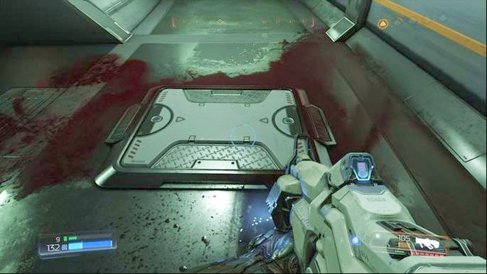 Once you find the Combat Drone, walk through the door slightly further and then go upstairs - Lazarus Labs | Secrets - Secrets - Doom Game Guide & Walkthrough