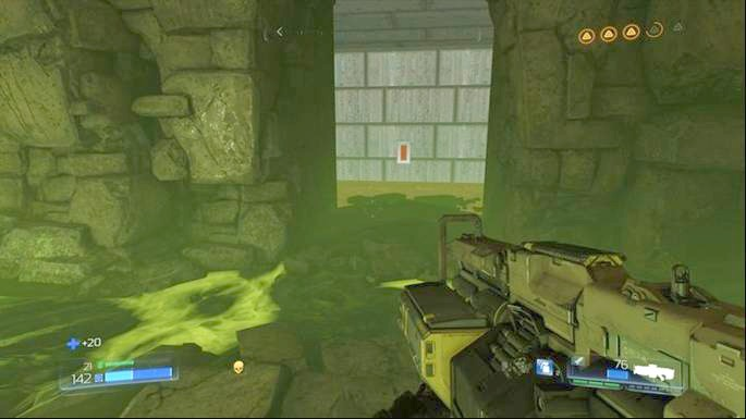 It will unlock a Classic Map in the chamber with the green substance - Titans Realm | Secrets - Secrets - Doom Game Guide & Walkthrough