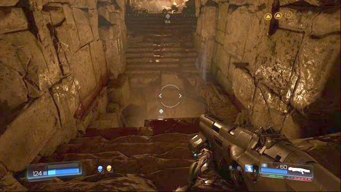 Go to the very bottom after the battle with two Barons of Hell and enter the hole that is located there - The Necropolis | Secrets - Secrets - Doom Game Guide & Walkthrough