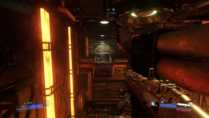 At some point of the level you will encounter a panel that requires the hand of a specific employee - Foundry | Secrets - Secrets - Doom Game Guide & Walkthrough
