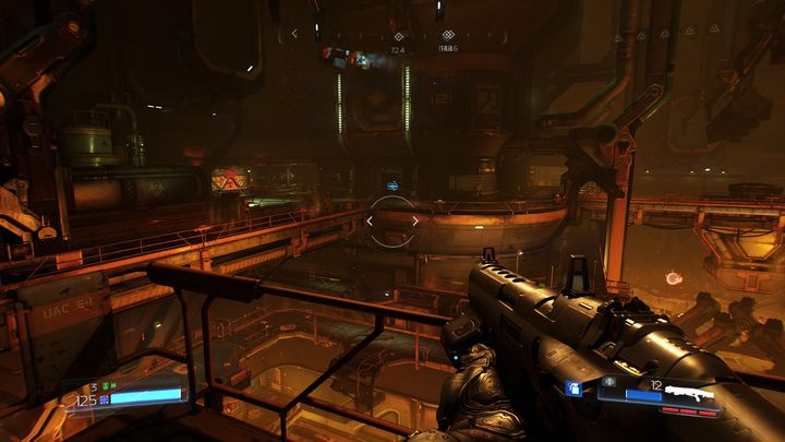 Go ahead after the level starts until you reach a closed hatch - Foundry | Walkthrough - Walkthrough - Doom Game Guide & Walkthrough