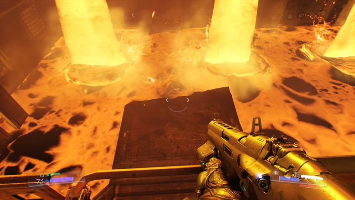 Look at the nearby lava tank after picking the item up - Foundry | Walkthrough - Walkthrough - Doom Game Guide & Walkthrough