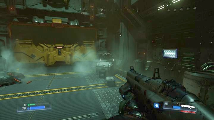 Once the level starts, keep going ahead until you reach a closed sluice - Argent Facility | Walkthrough - Walkthrough - Doom Game Guide & Walkthrough