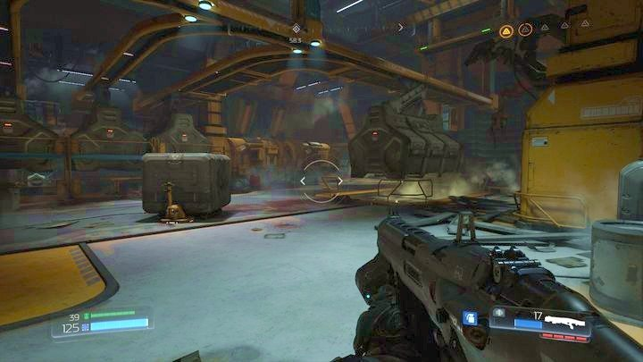 Go to the building on the left after going outside - Argent Facility | Walkthrough - Walkthrough - Doom Game Guide & Walkthrough