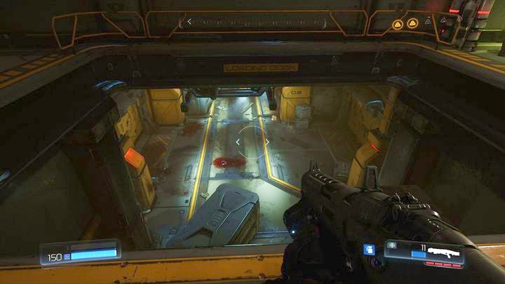 Find the hole in the floor after completing this trial - Argent Facility | Walkthrough - Walkthrough - Doom Game Guide & Walkthrough