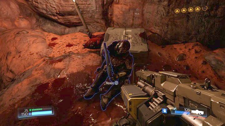 The narrow path will lead you to Supershotgun which will prove to be useful during the battle with the demons that will appear after destroying the third filter - Argent Facility | Walkthrough - Walkthrough - Doom Game Guide & Walkthrough