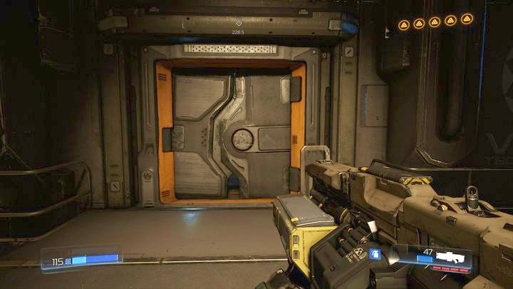 Once the battle is over, explore the room ahead of the door leading to the Supershotgun (it is hidden in the corner) - Argent Facility | Walkthrough - Walkthrough - Doom Game Guide & Walkthrough
