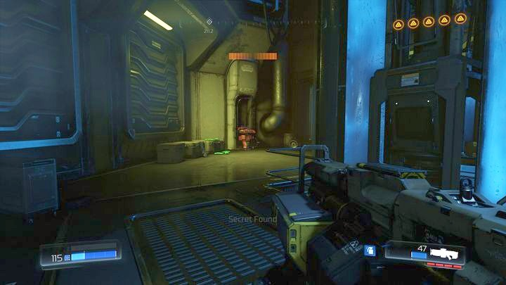 Behind it you will find Automap needed for completing one of the challenges - Argent Facility | Walkthrough - Walkthrough - Doom Game Guide & Walkthrough