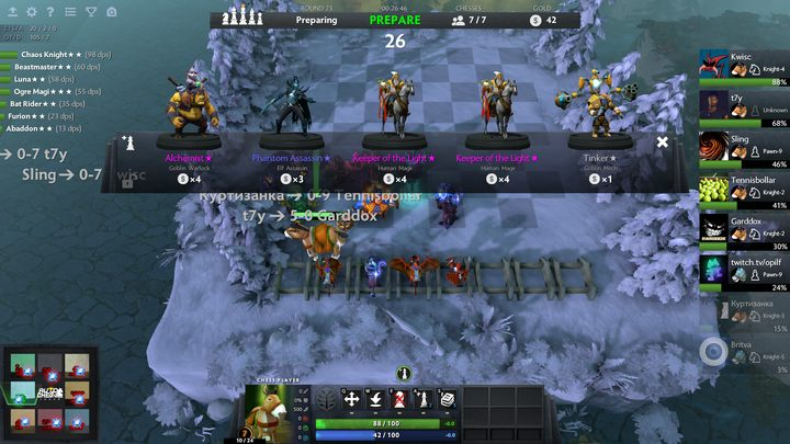 Every round in Dota Auto Chess we can buy five random heroes - How to build your army in Dota Auto Chess? - Beginners Guide - Dota Auto Chess Guide