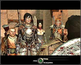 After winning the battle you will see a scene of conversation #1 with Lord Renvil Harrowmont, who will ask you to eliminate other mercenaries sent by Carta - Last of His Line - Act I - Dragon Age II - Game Guide and Walkthrough