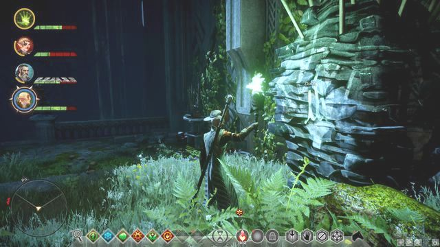 Hardly visible rune on the large rock - Runes in the Lost Temple - Side quests - Lost Temple of Dirthamen - Dragon Age: Inquisition Game Guide & Walkthrough