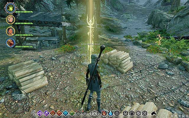An example of quarry and a logging stand - Quarries and logging stands - Quest list - Dragon Age: Inquisition Game Guide & Walkthrough